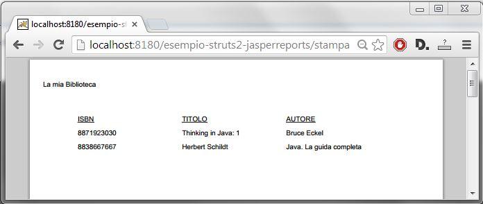 Struts2 - integrazione con JasperReports 2
