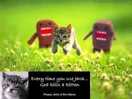 Il java uccide i gattini