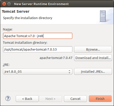 Eclipse - New Server Runtime Environment  (Java 8)Eclipse - New Server Runtime Environment  (Java 8)